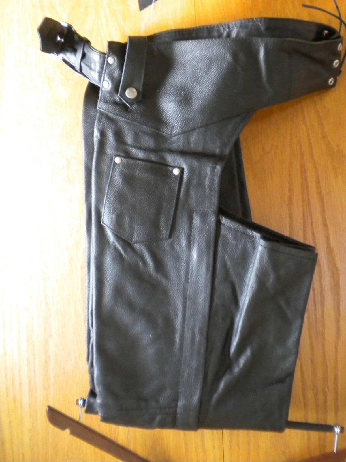 SALE AL2406  Ladies Soft 1Pc. Cowhide Leather Motorcycle Chaps  Full Leg Liner