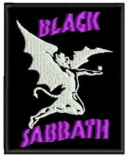 BLACK SABBATH II EMBROIDERED PATCH P HEAVY RAINBOW OZZY DIO Metal Negro