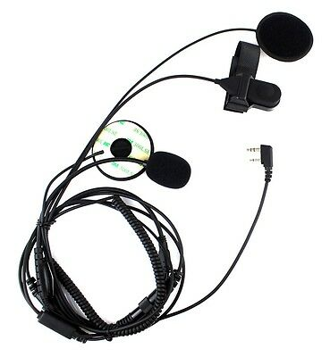 5X Motorcycle Helmet Finger PTT Headset Microphone for ICOM IC-F21 Two way Radio