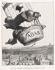 """Honore Daumier Reproductions: """"Nadar at the height of his art"""": Fine Art Print"""