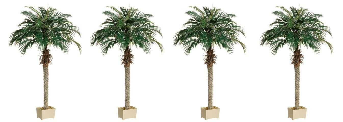 4 Artificial 70  Phoenix Palm Tree with Pot Plant Bush Topiary Office Patio Ivy