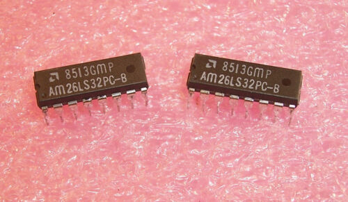 QTY (25) AM26LS32PC AMD 16 PIN DIP QUAD RECEIVER 26LS32 NOS 1 TUBE