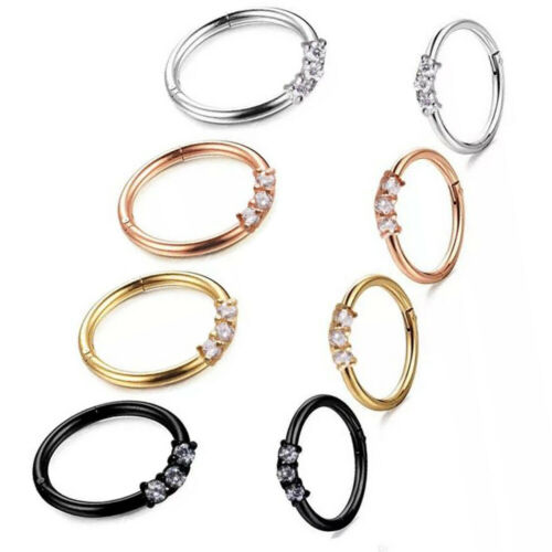 Jewelry Watches Body Piercing Jewelry Hinged Segment Ring Triple