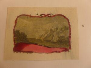 Carte De Visite Vierge Ancienne Gravure Couleur Lithographie