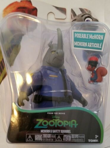 Disney Zootopia Character 2-Pack Mchorn /& Safety Squirrel Figures NEW SEALED