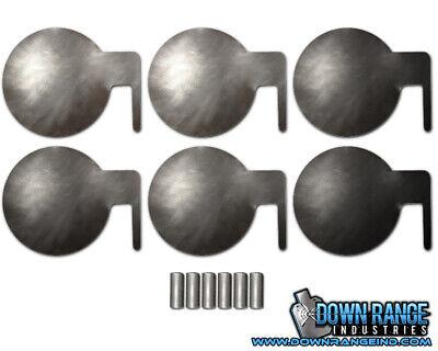 "6x AR500 Steel Target Dueling Tree DIY Kit 6/"" x 3//8/"" Pads With Tubes w// Warranty"