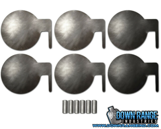 """USA MADE!! AR500 Steel Target Dueling Tree DIY Kit 6pc 4/"""" x 3//8/"""" Pad With Tubes"""