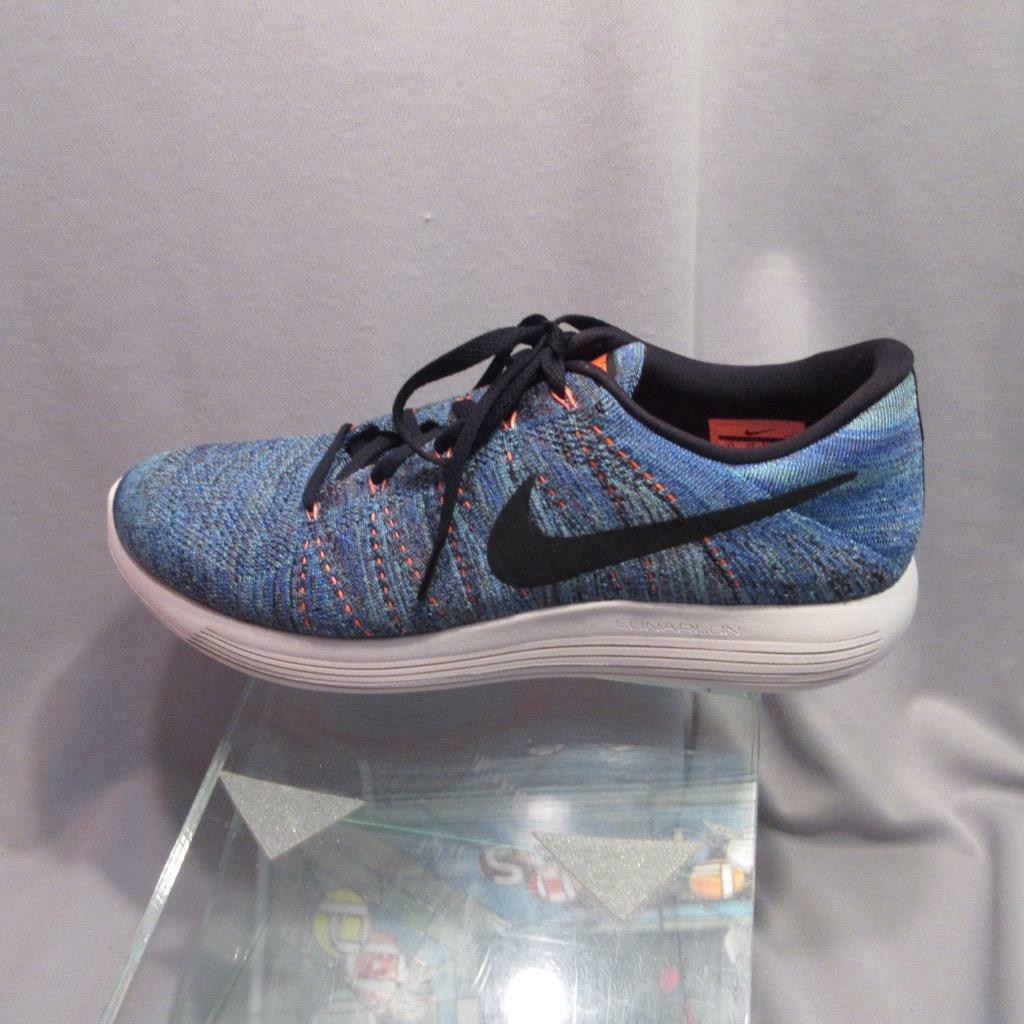Nike LunarEpic Low Flyknit Mens Running Shoe 843764 402 Blue Black size 12