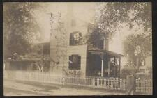 REAL PHOTO POSTCARD TRENTON NJ/NEW JERSEY AREA LARGE 2 STORY FARM HOUSE 1907