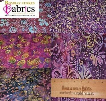 """44/"""" inch Excellent Quality Leaves//Flowers Prints Bali Batik 100/% Cotton"""