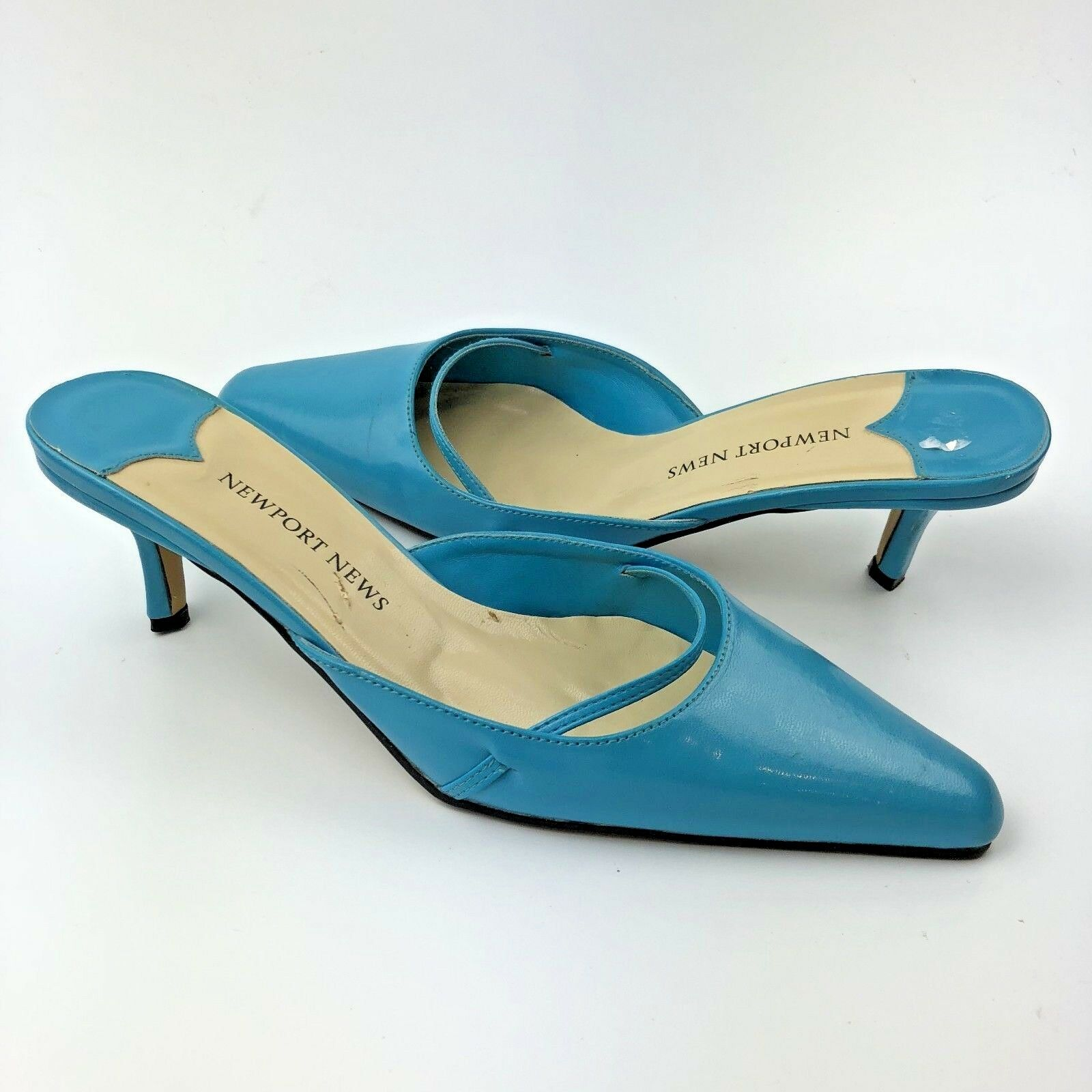 Newport News Mules Size 9 bluee Slip On Pump Pointy Toe shoes Style
