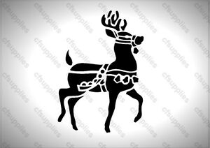 A5 Stencil  Christmas Reindeer Shabby Chic French Furniture Fabric Vintage - Chesterfield, United Kingdom - A5 Stencil  Christmas Reindeer Shabby Chic French Furniture Fabric Vintage - Chesterfield, United Kingdom
