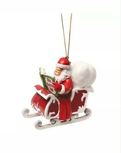 image is loading santa reading a book christmas ornaments