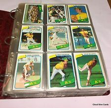 1980 Topps complete set in binder (726 cards) Rickey Henderson RC - NMMT-MT