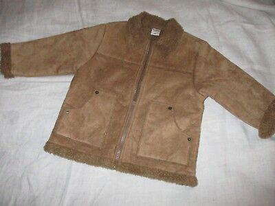 Jacke Kinderjacke Gr. 92 Braun, Impidimpi, Wildlederoptik, Vintage-stil, Western Den Speichel Auffrischen Und Bereichern