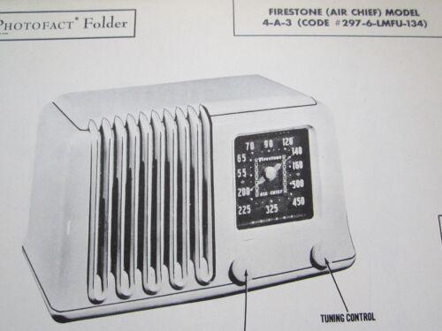 FIRESTONE AIR CHIEF 4-A-3 RADIO PHOTOFACT
