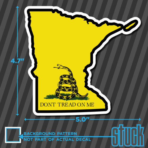"5.0/""x4.7/"" Minnesota State Don/'t Tread On Me printed vinyl decal sticker MN"