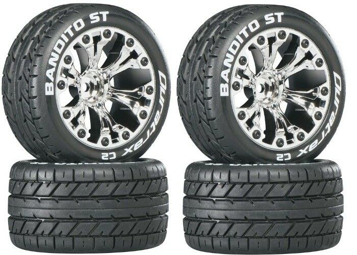 NEW Duratrax Bandito ST Street Tires Wheels for Electric Stampede Rustler 2WD