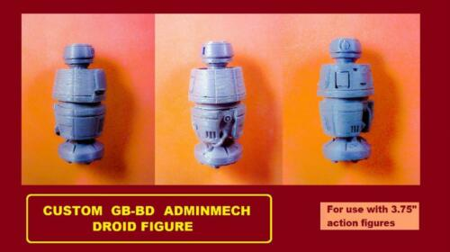 Custom Star Wars GB-BD adminmech Droid Figure Kessel Solo Tatooine