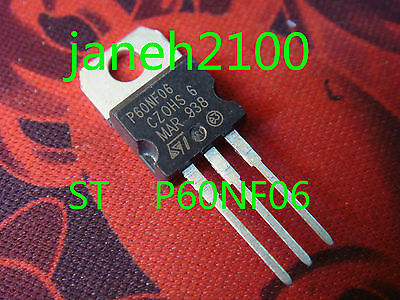 A64 15pc STP60NF06 P60NF06 NEW ORIGINAL ST Mosfet TO220