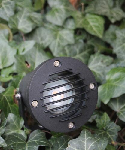 Erdspießstrahler mit 3,5 Watt PHILIPS LED Lampe mit Blendgitter Leuchte Garten