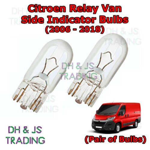 Citroen Relay Van Picasso Side Indicator Bulbs Pair Side Indicator Bulb 06-18