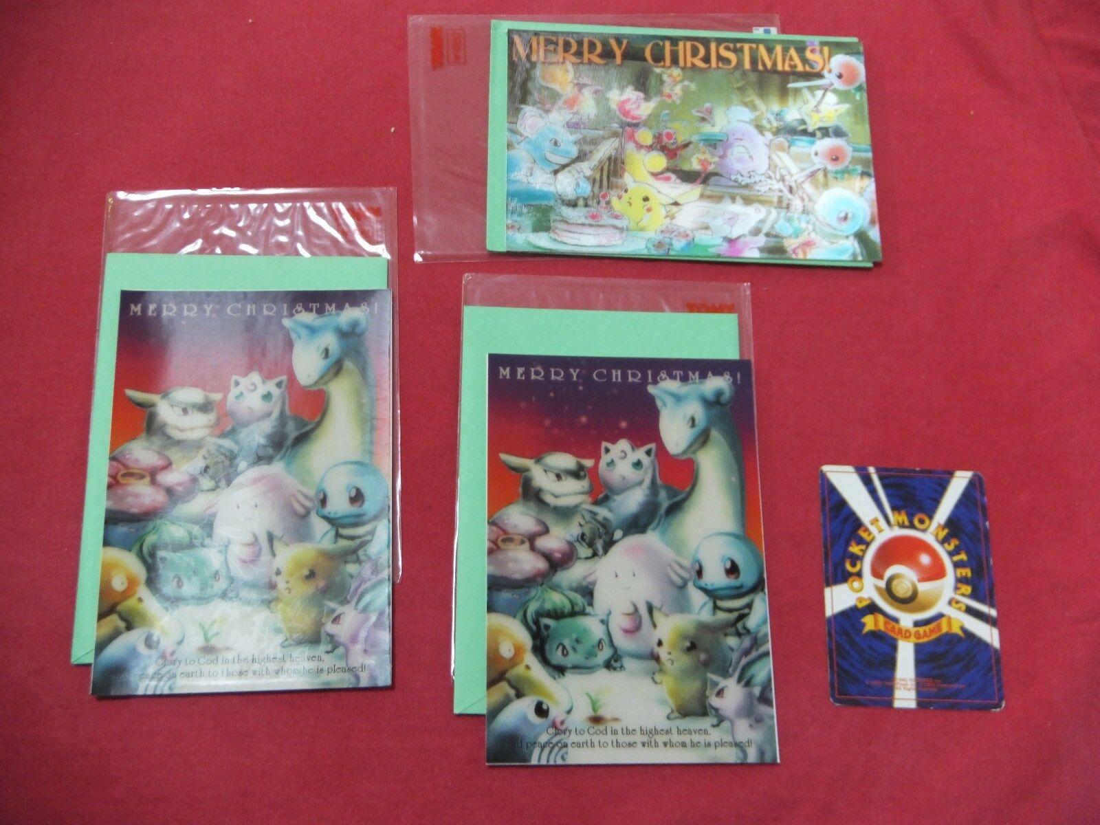 Pokemon card japanese Christmas cards Pikachu