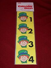 Vintage CALENDAR COVER UPS SHAMROCKS 31 pc Leprechaun 1982