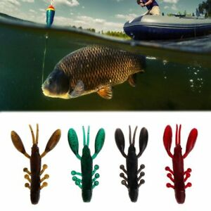 1//5//10pcs Fly Fishing Hook Leather Bait w// Eyes Lure Trout Salmon Streamer Jig