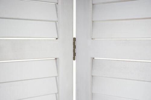 shabby-Look Vintage séparateur de pièce Brise Paravent mcw-c30 170x243x2cm Blanc