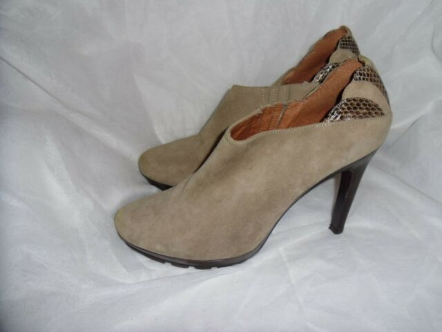 Lola CRUZ ESPANA Donna Beige in Pelle Scamosciata Elastico Caviglia Tg UK 7 EU 40