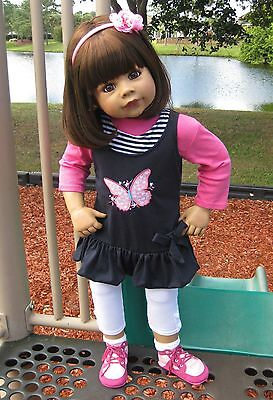 NWT RARE Masterpiece Dolls Rory by Monika Levenig Brunette Doll With Brown Eyes