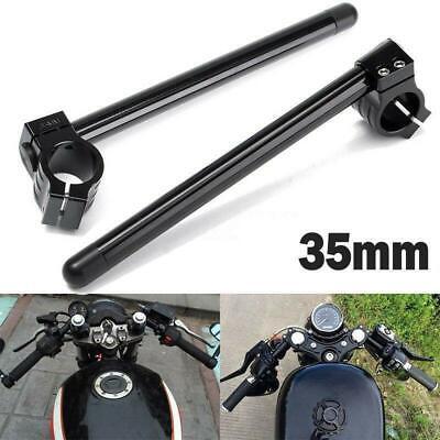 7//8/'/' Motorcycle Billet CNC 35MM Fork Tube Clip On Racing Handlebar Handle Bars