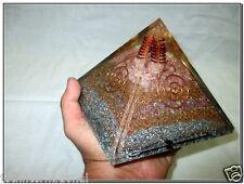 "Huge Rose 5"" Orgone A+ Pyramid Crystal Reiki Prana Healing Chokurei Huge EMF"
