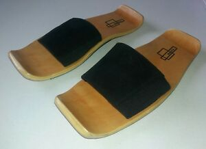 Image is loading Rare-Nuala-Puma-Black-Leather-Merca-Wood-Sandals- 11e485778