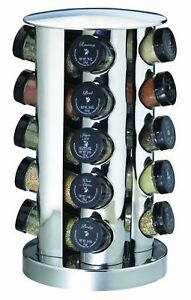 Kamenstein 20 Jar Stainless Steel Revolving E Rack Tower