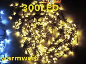 Led Lichterkette Für Tannenbaum.Details Zu Wow 300 Leds Lichterkette Weihnachten Tannenbaum Innen Außen Gelb Warmweiß