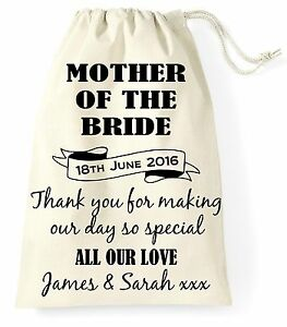 personalised wedding day gift bag mother of the bride present