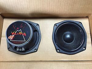 New-Old-School-Volcano-Stanford-Acoustics-5-25-034-Mid-Bass-Speakers-RARE-NOS-USA