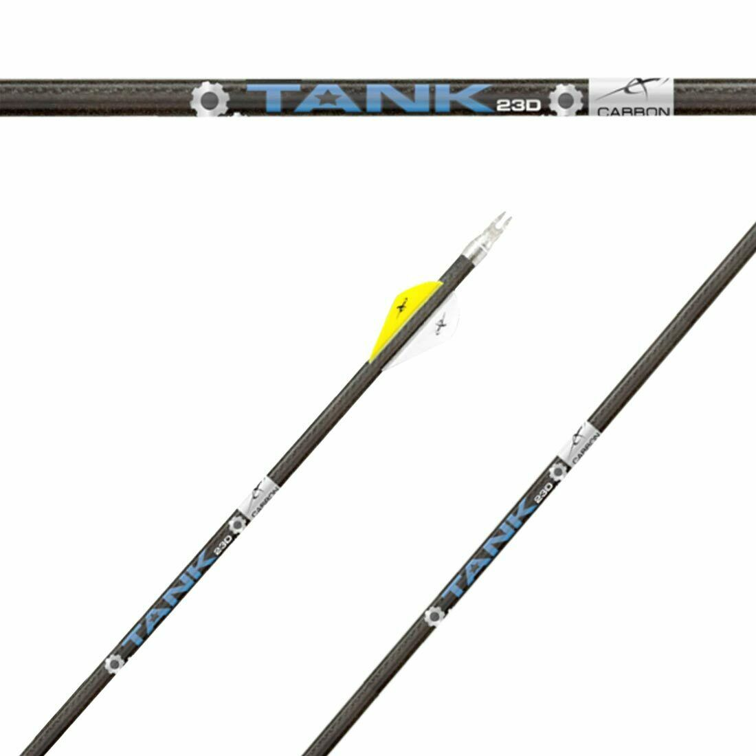 TANK 23D 400 SHAFTS WITH NOCK BUSHINGS 120gr POINTS CARBON EXPRESS CUT FREE