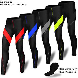 Homme Cuissard Cyclisme Cycle Compression Collant Lycra Pantalon Coolmax Rembourré