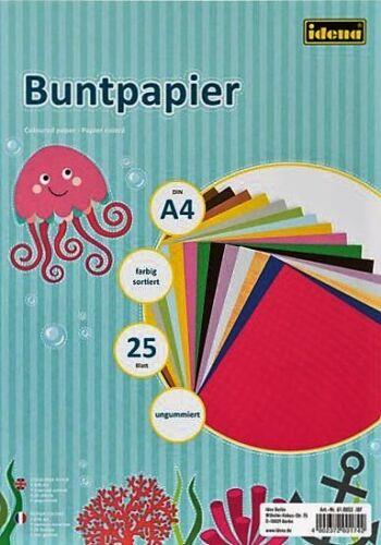 Basteln & Kreativität Buntpapier 25 Blatt Din A 4 Bastelpapier,Papier