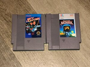 Captain-Skyhawk-amp-Spy-Hunter-2-Game-Lot-Nintendo-Nes-Cleaned-amp-Tested-Authentic