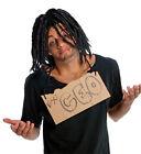 Dreadlock Wig Mens Adult Dreads Dread Locks Long Black Homeless Hobo Tramp Hair