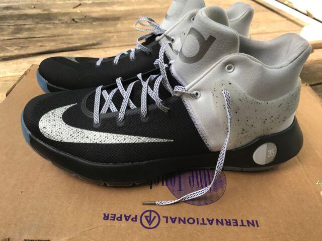 new arrivals d982d 97557 Nike KD Trey 5 IV Premium BlackWhiteMetallic Silver 844589 010 Mens Size
