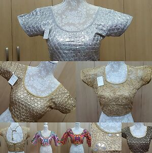 Blouse-Ready-Made-Wedding-Party-Wear-Indian-Designer-Saree-Stitched-Crop-Top