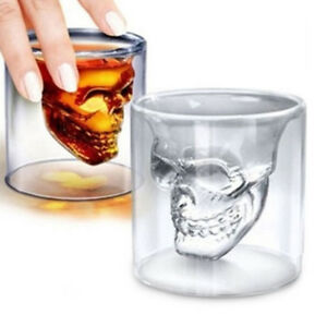 Crystal-Skull-Head-Vodka-Shot-Whiskey-Wine-Beer-Bar-Glass-Drinking-Decanter-Cup