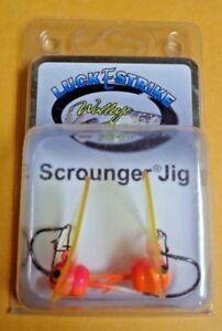 Luck E Strike Walleye Fever Scrounger Bucktail Jig WSBT 14L-59-1 Or//Pink