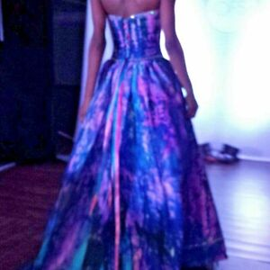 Corset gown Blue Pink Purple tie dyed