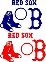 Boston Red Sox Cornhole Decal Stickers Set 8 Pcs Sox Nation Baggo Mlb usa